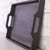 Подарки к праздникам handmade. Livemaster - original item A tray of Breakfast from the dark ash. Handmade.