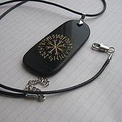 Фен-шуй и эзотерика ручной работы. Ярмарка Мастеров - ручная работа Кулон из камня  знак или  руноскрипт. Handmade.