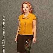 "Suits handmade. Livemaster - original item Knitted suit ""Canes"". Handmade."