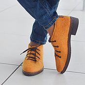 Обувь ручной работы. Ярмарка Мастеров - ручная работа Туфли валяные MUSTARD. Handmade.