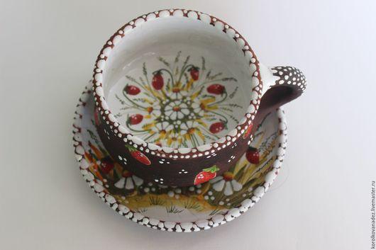 Кружки и чашки ручной работы. Ярмарка Мастеров - ручная работа. Купить Керамическая чайная пара. Handmade. Комбинированный, глазурь по керамике