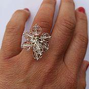 Украшения handmade. Livemaster - original item Ring with cubic zircons. Silver 925 sample.. Handmade.