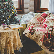 """Для дома и интерьера handmade. Livemaster - original item Лоскутное одеяло """"Викторианские розы"""",покрывало лоскутное. Handmade."""