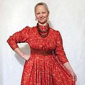 Одежда ручной работы. Ярмарка Мастеров - ручная работа Русское платье. Handmade.