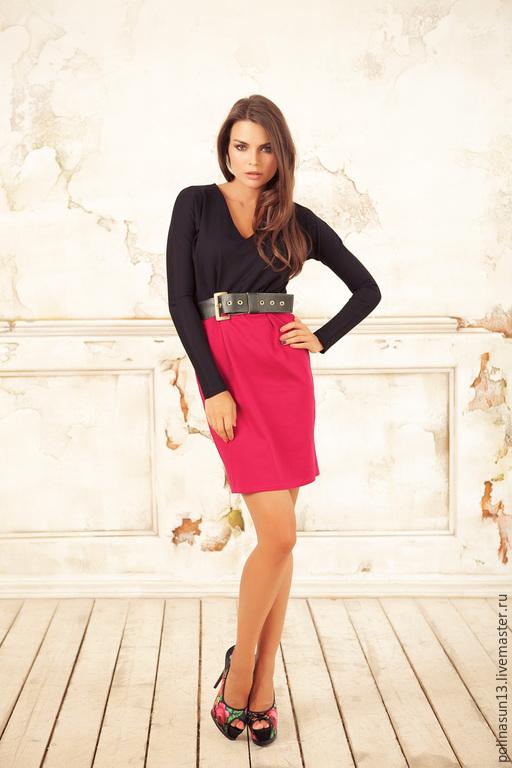 """Платья ручной работы. Ярмарка Мастеров - ручная работа. Купить Платье """"Laky"""". Handmade. Черный, платье с поясом"""