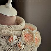"""Брошь-булавка ручной работы. Ярмарка Мастеров - ручная работа Брошь-цветы """" Молочно-персиковое утро"""". Handmade."""