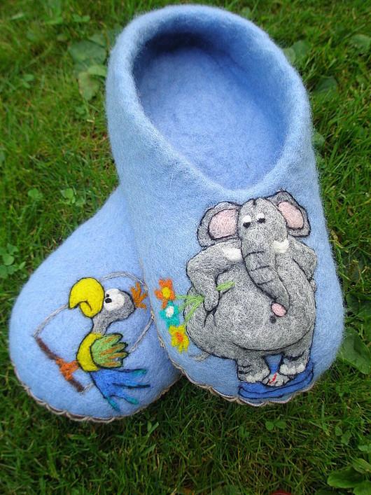 """Обувь ручной работы. Ярмарка Мастеров - ручная работа. Купить Домашние тапочки """" Лучший друг"""". Handmade. Войлочные тапки"""