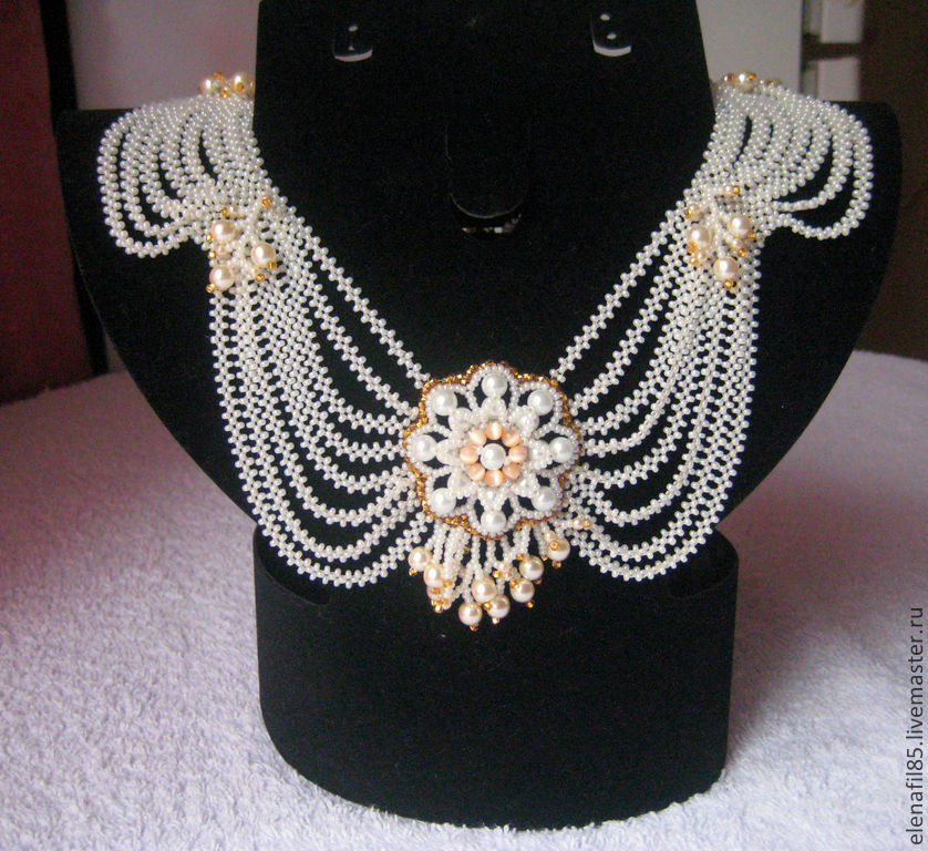 Choker flower pearl, Necklace, Moscow,  Фото №1