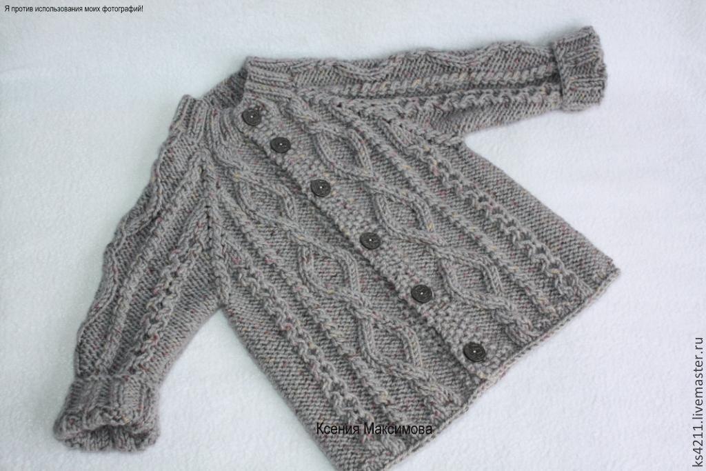 jacket 'Trendy tweed' knitting ed. work, Sweater Jackets, Novokuznetsk,  Фото №1