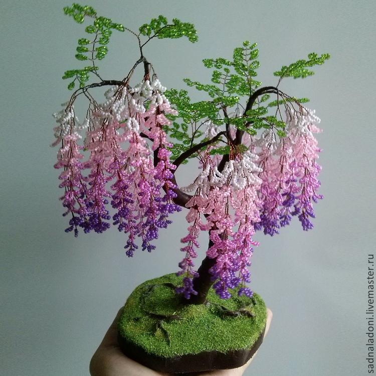 картинки дерево из бисера.