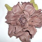 Украшения handmade. Livemaster - original item Brooch made of leather