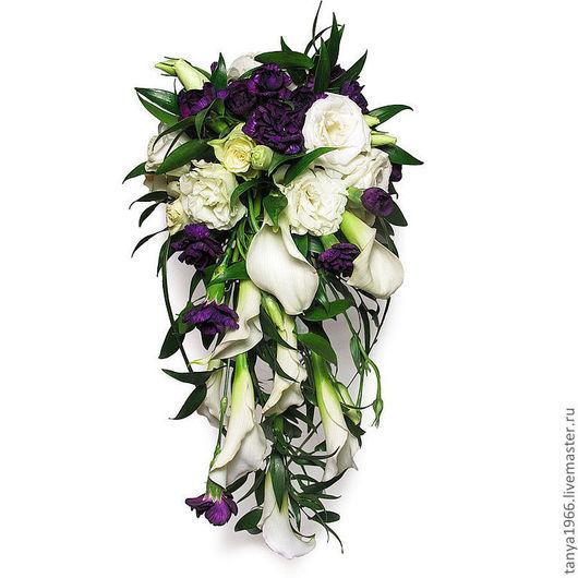 Свадебные цветы ручной работы. Ярмарка Мастеров - ручная работа. Купить Сиреневый туман. Handmade. Свадьба 2013, свадебный букет