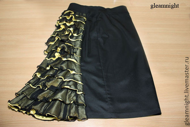 Bodycon skirt with ruffle, Skirts, Ekaterinburg,  Фото №1
