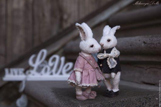 """Мишки Тедди ручной работы. Ярмарка Мастеров - ручная работа. Купить Друзья Тедди. Авторская работа. """"Вечная любовь"""". Handmade."""