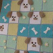 Плед одеяло из квадратных мотивов. Плед крючком. Подарок малышу.