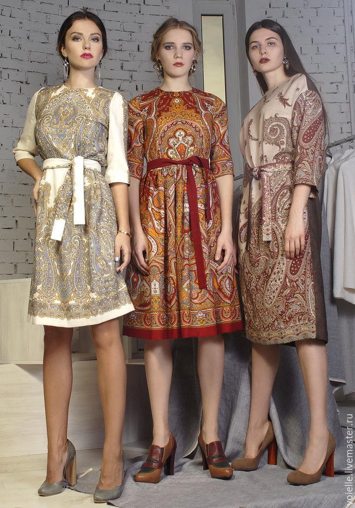 Платье из павлопосадских платков своими руками фото 255