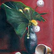 """Картины и панно ручной работы. Ярмарка Мастеров - ручная работа Картина пастелью """"Солнечный цветок"""". Handmade."""