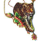 Украшения ручной работы. Ярмарка Мастеров - ручная работа Африканские мотивы, животные Африки, летнее колье, African Leopard. Handmade.