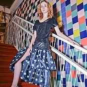 Одежда handmade. Livemaster - original item Sequins + polca-dot dress. Handmade.