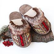 Обувь ручной работы. Ярмарка Мастеров - ручная работа Тапочки домашние Сударушка. Handmade.