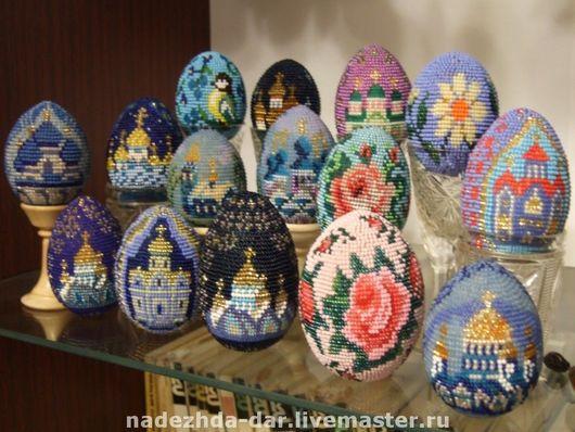 Яйца ручной работы. Ярмарка Мастеров - ручная работа. Купить Яйцо подарочное от Дарьяны. Handmade. Бисер, яйцо, любовь, подарок