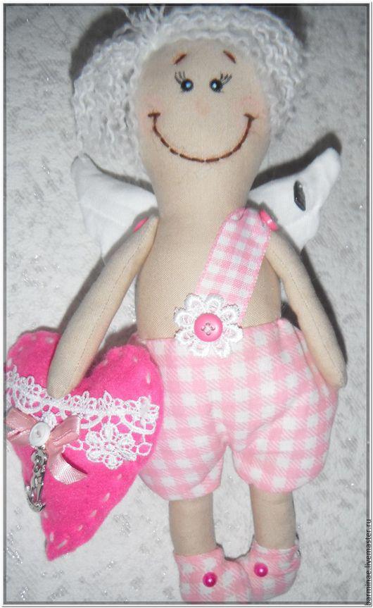 Куклы Тильды ручной работы. Ярмарка Мастеров - ручная работа. Купить Ангел. Handmade. Розовый, текстильная игрушка, ангел