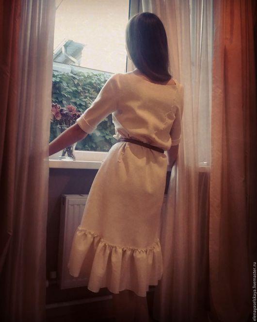 Платья ручной работы. Ярмарка Мастеров - ручная работа. Купить Платье Белое Валяное. Handmade. Белый, осеннее платье, шёлк