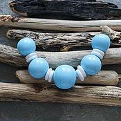 Материалы для творчества handmade. Livemaster - original item Blue set with washers, hollow beads. Handmade.