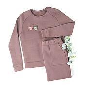 Одежда handmade. Livemaster - original item Sweatshirt and skirt from the footer with a fleece. Handmade.