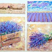 Картины и панно handmade. Livemaster - original item Oil painting on canvas Lavender Provence Lavender Provence. Handmade.