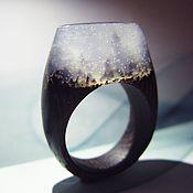 """Украшения ручной работы. Ярмарка Мастеров - ручная работа Деревянное кольцо """"Туман"""" 17 размер. Handmade."""