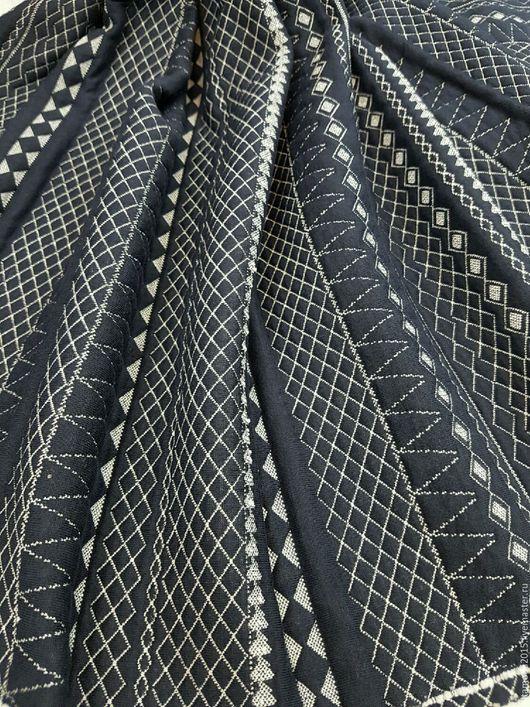 Шитье ручной работы. Ярмарка Мастеров - ручная работа. Купить Трикотаж стеганный синий  ткань Италия. Handmade. Комбинированный, юбка