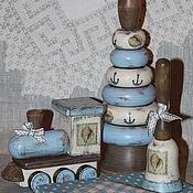 """Для дома и интерьера ручной работы. Ярмарка Мастеров - ручная работа Набор для мальчика """"Морской"""". Handmade."""