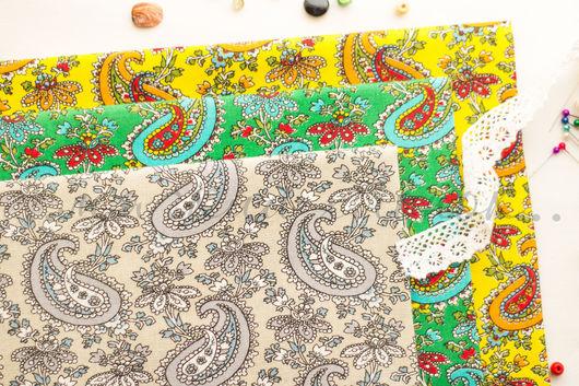 Хлопок 100%. Ткань для шитья, тильд, игрушек, квилтинга, пэчворка, скрапбукинга. Мягкий хлопок. Ткань для творчества. Ивановские ткани. Ситец. Бязь. Купить ткань. Хлопок, зеленый, турецкие огурцы