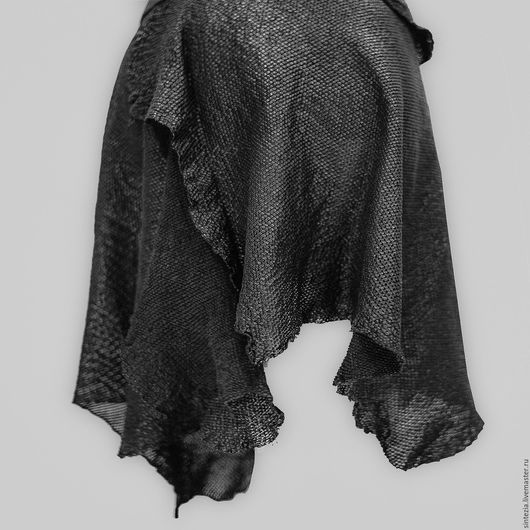 Юбки ручной работы. Ярмарка Мастеров - ручная работа. Купить Юбка из перфорированной сетки. Handmade. Черный, перфорированная кожа
