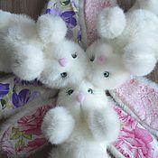Куклы и игрушки ручной работы. Ярмарка Мастеров - ручная работа Зайка пушистик. Handmade.