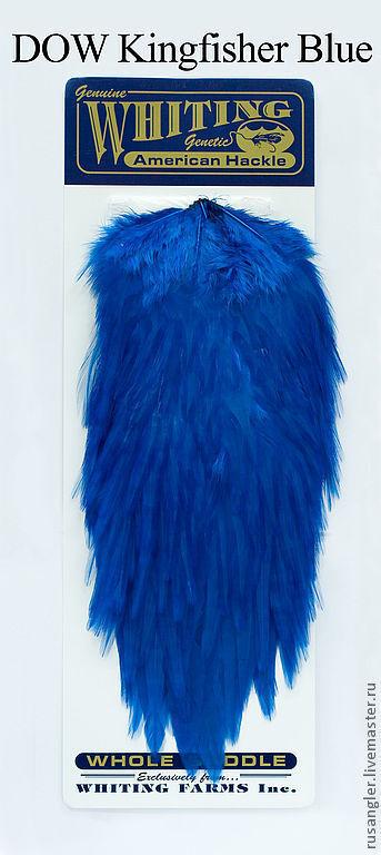 Другие виды рукоделия ручной работы. Ярмарка Мастеров - ручная работа. Купить Перья American Rooster Saddle DOW Kingfisher Blue (41802258). Handmade.