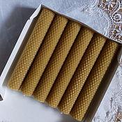 Свечи ручной работы. Ярмарка Мастеров - ручная работа Свечи из вощины в подарочном наборе 19см. Handmade.