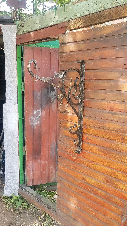 Кованый кронштейн для кашпо, Изделия, Москва, Фото №1