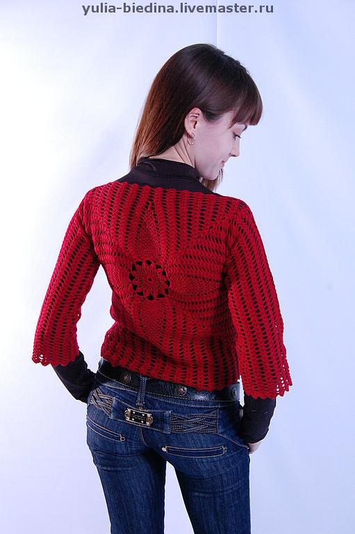 """Кофты и свитера ручной работы. Ярмарка Мастеров - ручная работа. Купить Пуловер """"Бордо"""". Handmade. Женская одежда, бордовый"""