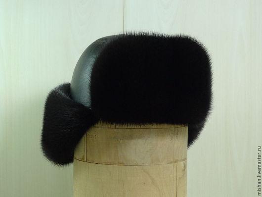 """Для мужчин, ручной работы. Ярмарка Мастеров - ручная работа. Купить Стильная шапка ушанка """"Пилот"""". Зимний мужской головной убор 2016. Handmade."""