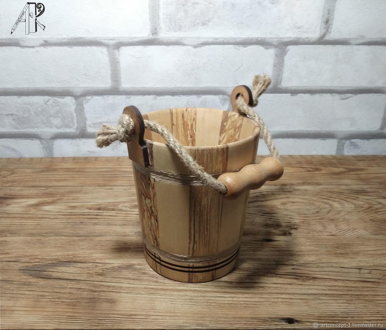 Wooden beer Mug made of solid wood ' Bucket', Mugs and cups, Ryazan,  Фото №1