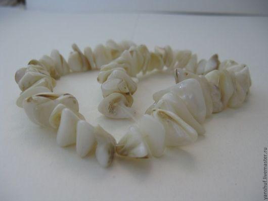"""Для украшений ручной работы. Ярмарка Мастеров - ручная работа. Купить Ракушки Моп """" Дольки """". Handmade. Белый"""