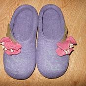 """Обувь ручной работы. Ярмарка Мастеров - ручная работа Тапочки """"Фиалки"""". Handmade."""