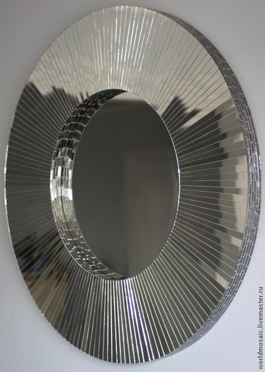 Зеркала ручной работы. Ярмарка Мастеров - ручная работа. Купить Зеркало в мозаичной раме, Венецианское. Handmade. Серебряный, венецианское стекло