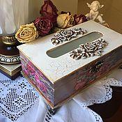 Для дома и интерьера ручной работы. Ярмарка Мастеров - ручная работа Салфетница Викторианская роза. Handmade.
