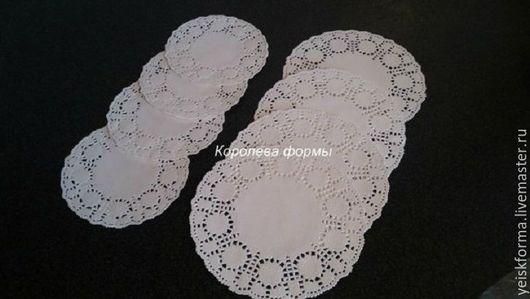 Упаковка ручной работы. Ярмарка Мастеров - ручная работа. Купить Салфетки бумажные ажурные  диаметр 110 мм. Handmade. Белый