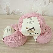 Пряжа ручной работы. Ярмарка Мастеров - ручная работа Gazzal Baby Cotton хлопок с акрилом летняя пряжа розовый. Handmade.
