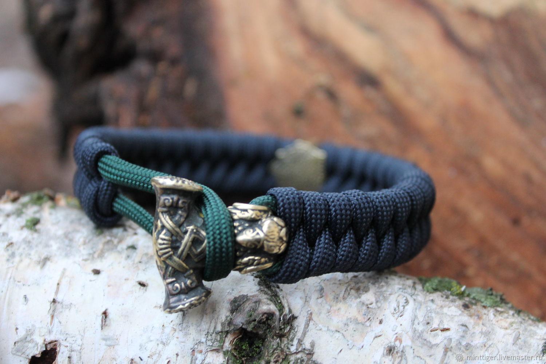 Bracelet braided: Paracord bracelet-Thor's Hammer, Braided bracelet, Volgograd,  Фото №1