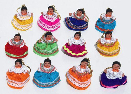 Брелоки ручной работы. Ярмарка Мастеров - ручная работа. Купить Брелоки в виде индейских куколок различных цветов. Handmade. Брелок